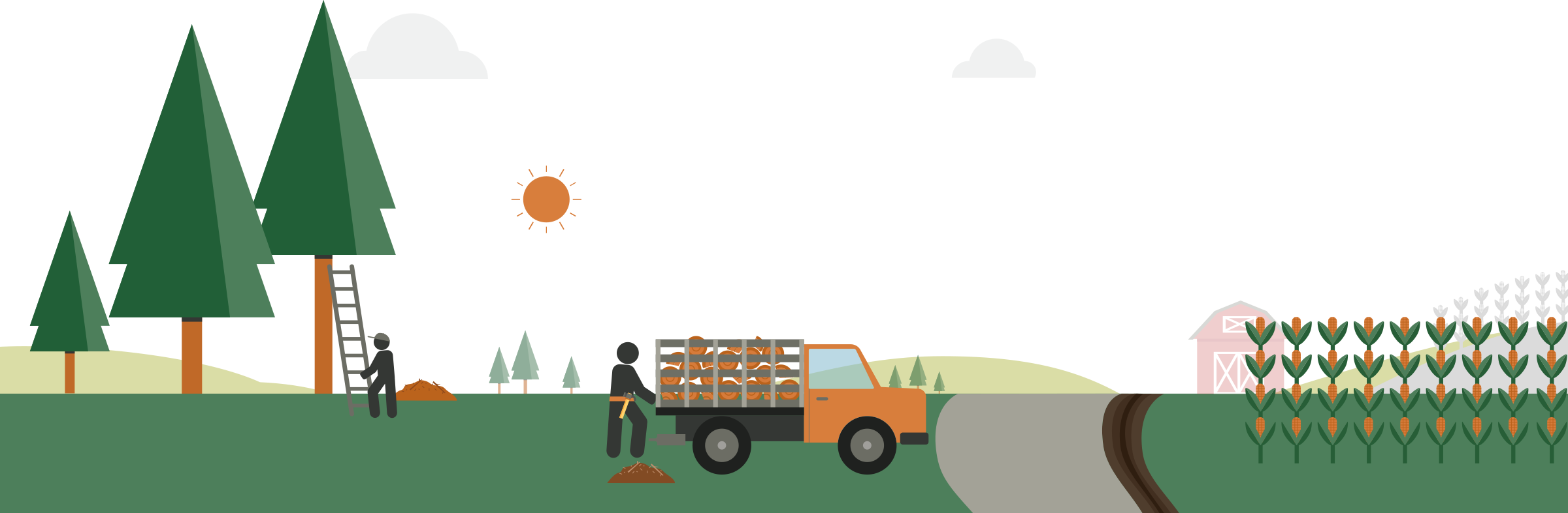 Creating Defensible Space Illustration